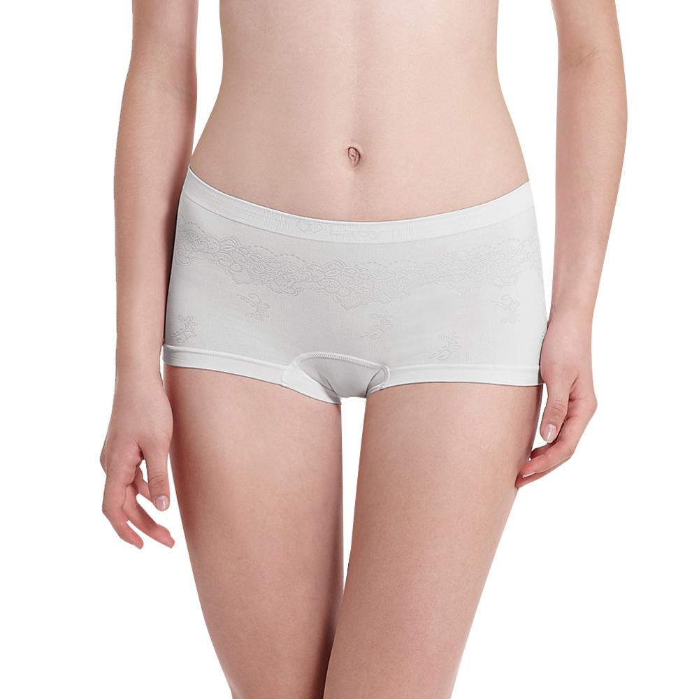 LADY 超彈力親膚無痕系列 中腰平口褲(灰色)