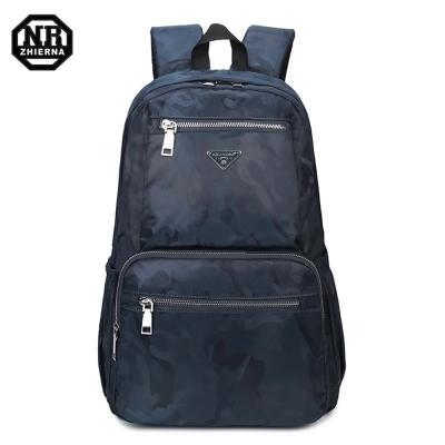 BAC01 BU藍色 NR14吋韓版經典迷彩休閒電腦後背包