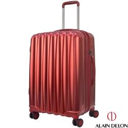 ALAIN DELON 亞蘭德倫 24吋絕色流線系列行李箱(紅)