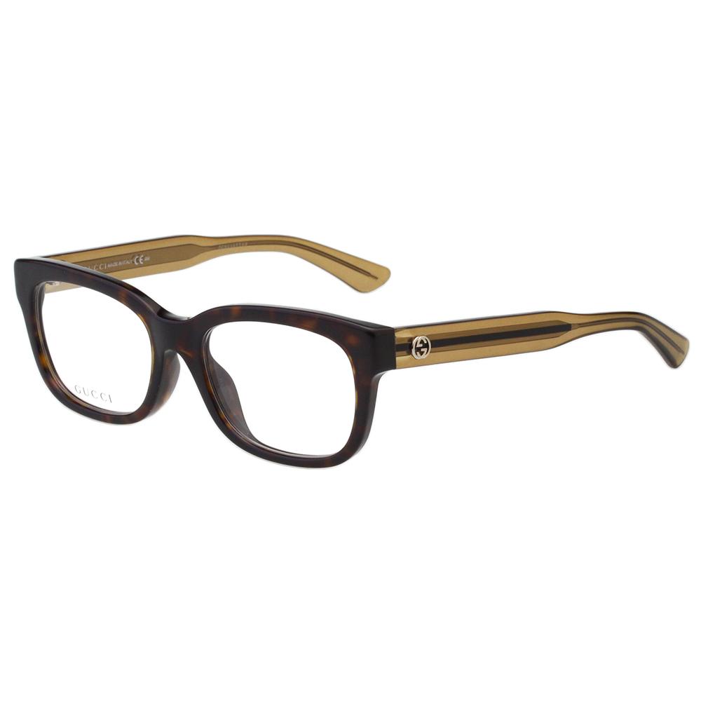 GUCCI 簡約百搭 光學眼鏡 (琥珀色)
