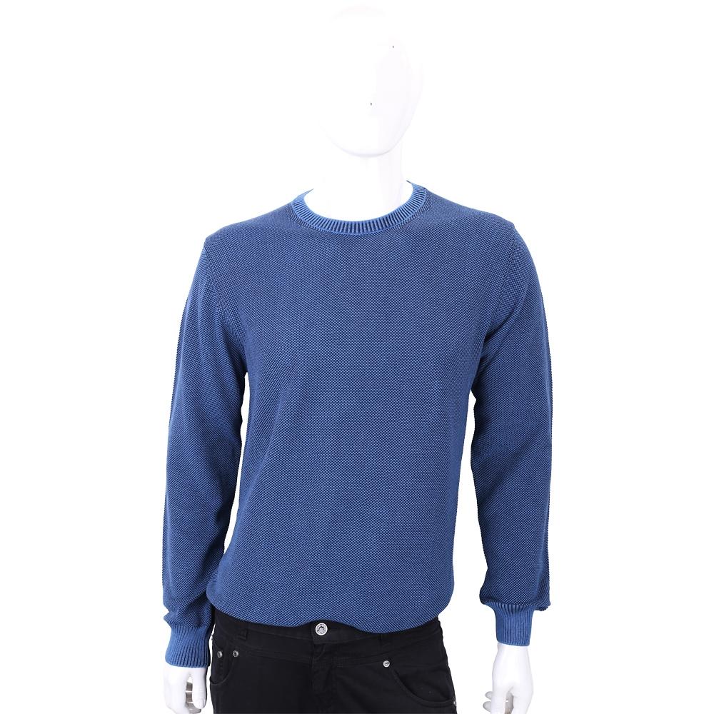 TRUSSARDI 藍色混色圓領針織衫