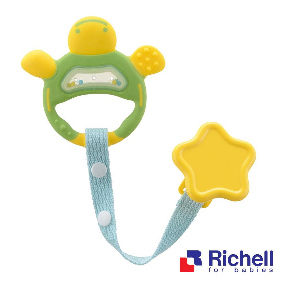 Richell日本利其爾  固齒器-翠綠色(附固定夾)