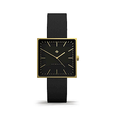 Newgate-CUBELINE-永恆金-義大利皮革錶帶-35mm