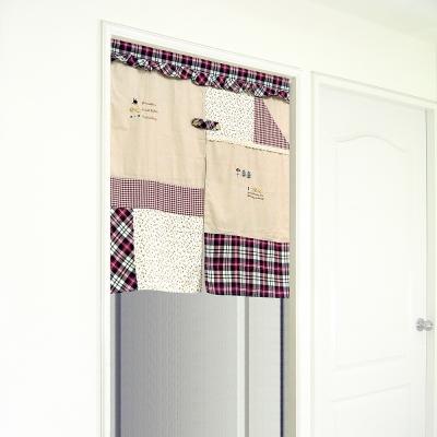 布安於室-拼布中開式短門簾