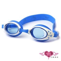 天使霓裳 FUN暑假 兒童泳鏡戲水必備(1700-藍F)