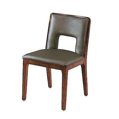 品家居 優舒拉皮革造型餐椅(二色可選)-46x47x81cm免組
