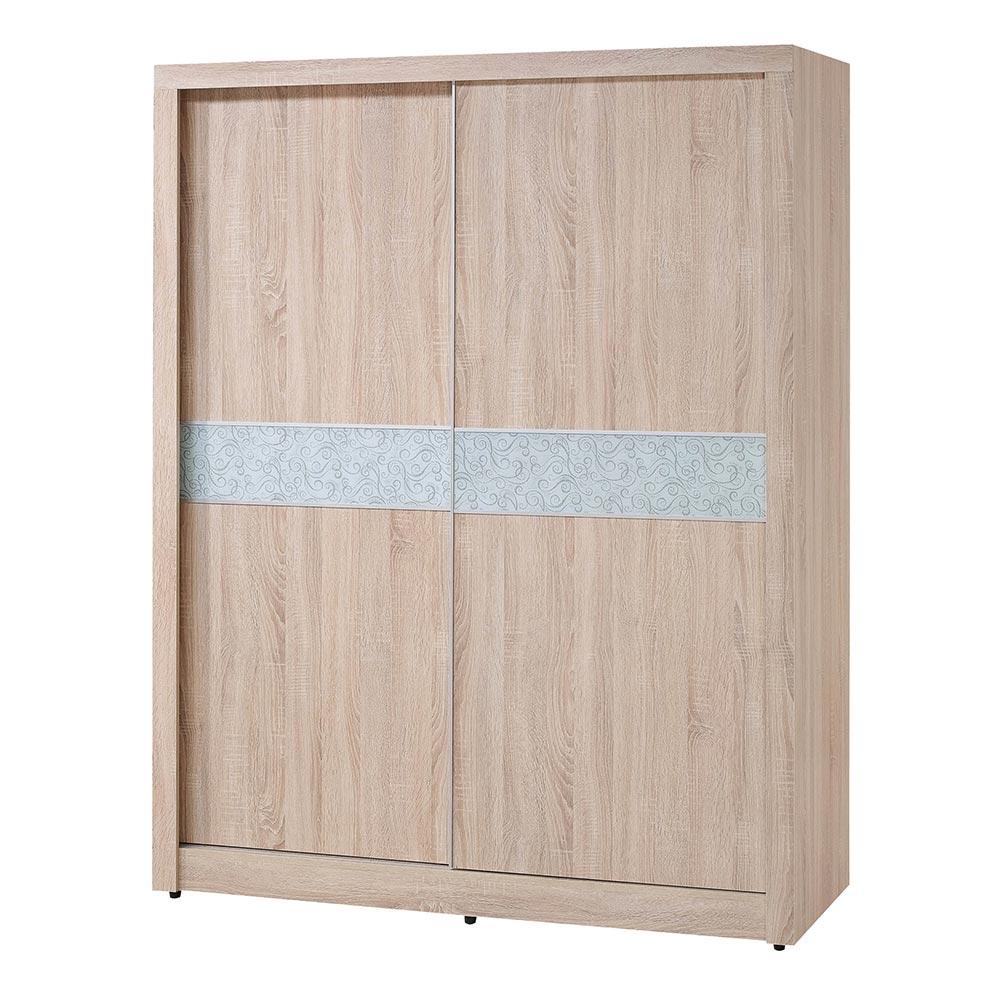 H&D 原橡5尺推門衣櫥 (寬151.5X深60X高205cm)