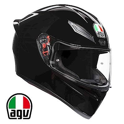 AGV K1 全罩安全帽 亮黑素色 台灣公司貨 亞洲頭型