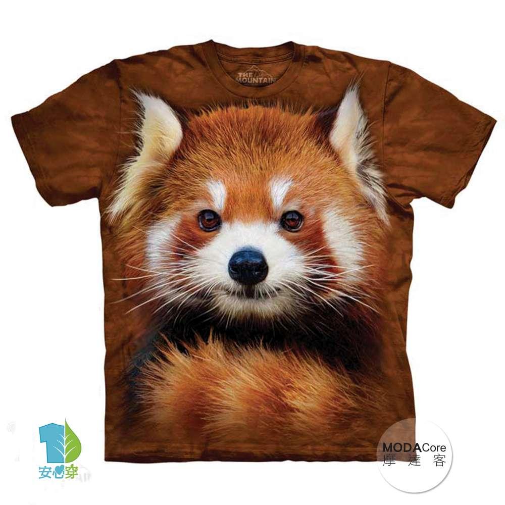 摩達客 美國進口The Mountain 紅貓熊小熊貓 純棉環保短袖T恤