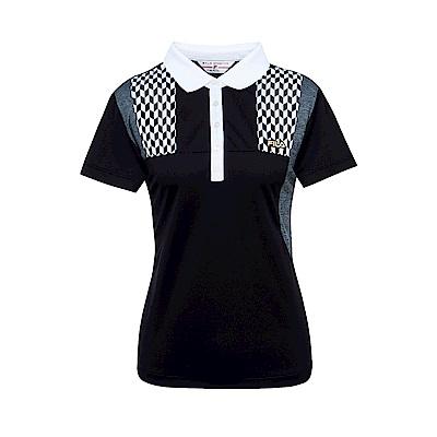 FILA 女吸濕排汗短袖POLO衫-黑 5POS-1455-BK