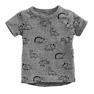 歐美春夏純棉兒童短T-萌系恐龍