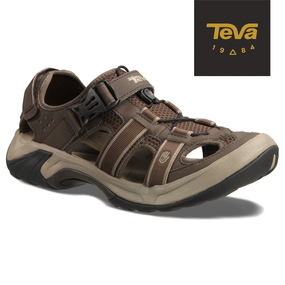 TEVA 美國-男 OMNIUM 機能水陸兩棲護趾運動涼鞋 (棕)