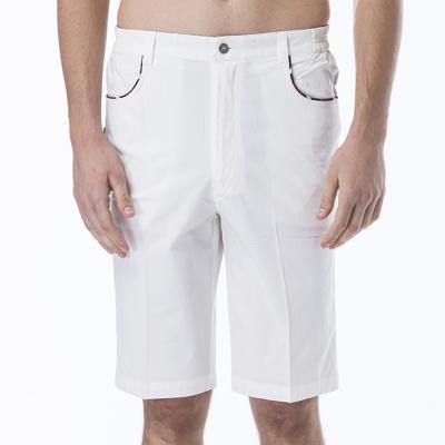 歐洲貴族oillio-休閒短褲-皇冠刺繡-oillio草寫-白色