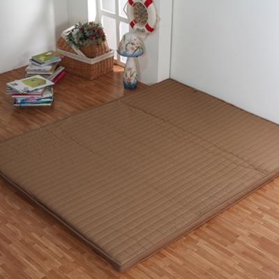 《星辰》巧克力冬夏兩用折疊床墊-雙人