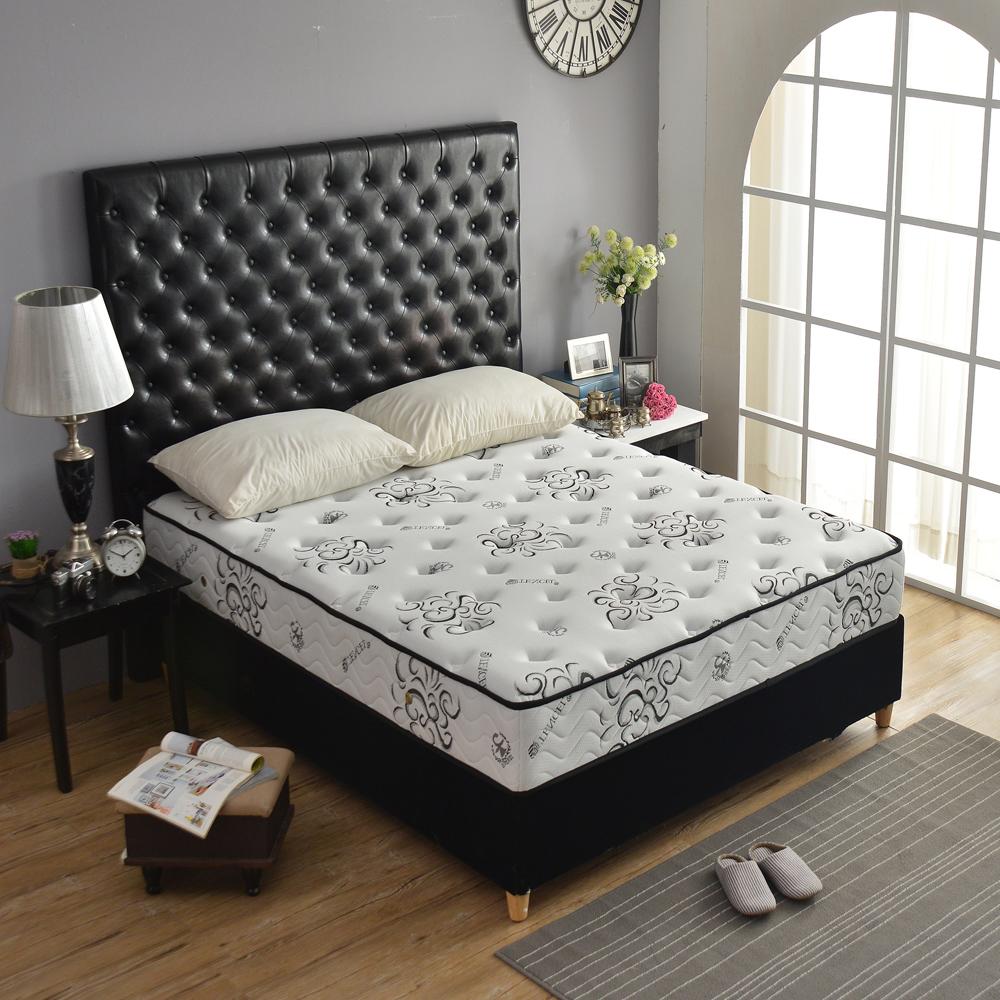 Ally愛麗頂級乳膠涼感天絲高澎度 硬式獨立筒床 雙人加大6尺