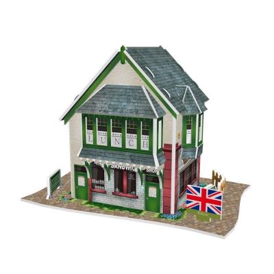 世界之窗 3D立體拼圖 《英國》三文治專門店 3D World Style