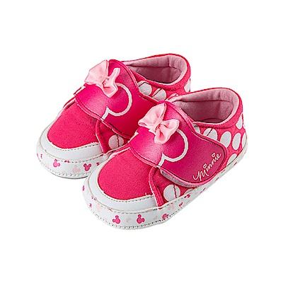迪士尼 米妮 可愛造型 魔鬼氈寶寶鞋