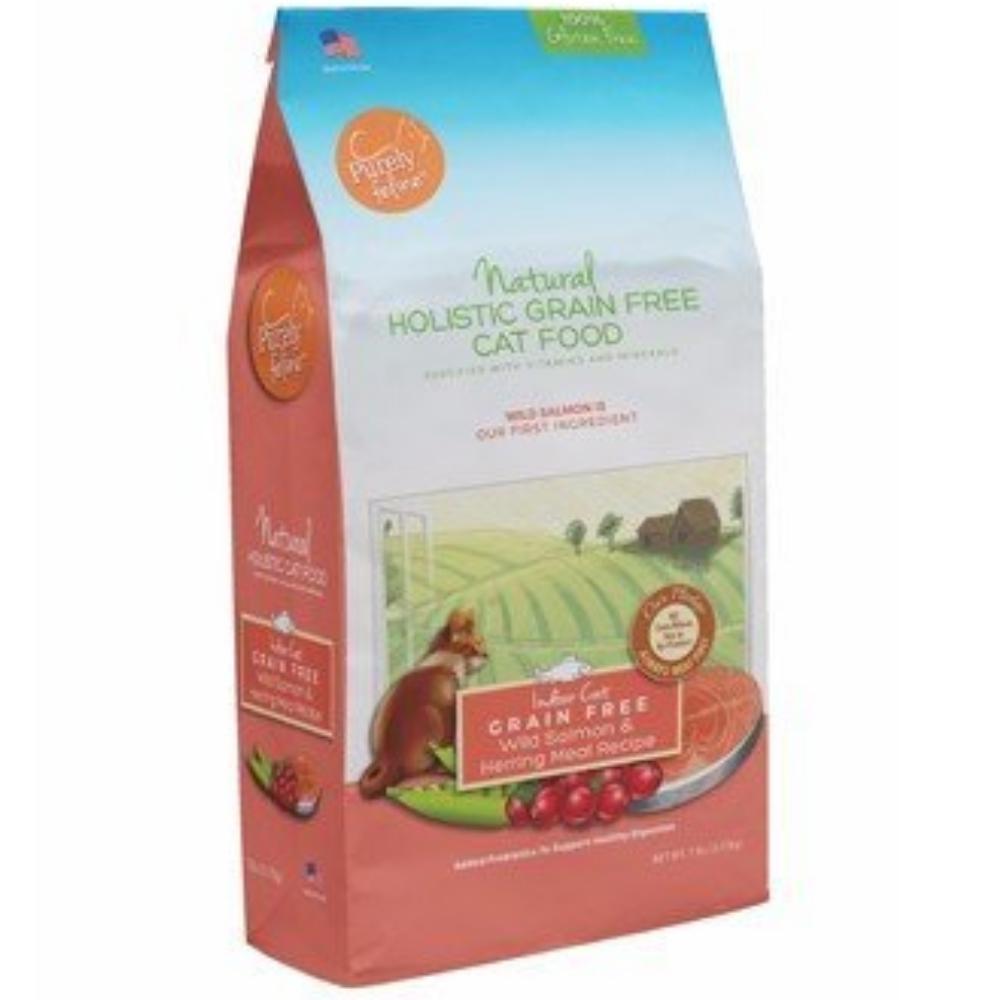 美國Canine naturals科納丘 天然貓糧 低敏無穀鮭魚 4磅