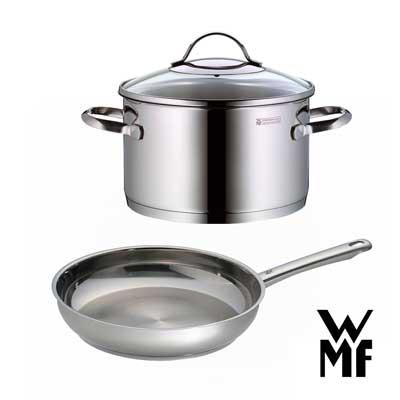 德國WMF 不鏽鋼雙鍋超值組 (煎鍋+湯鍋)