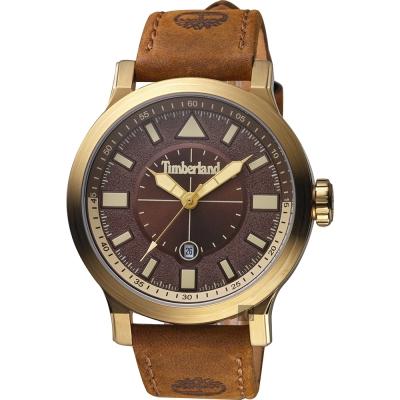 Timberland天柏嵐 探險家時尚手錶-咖啡/46mm