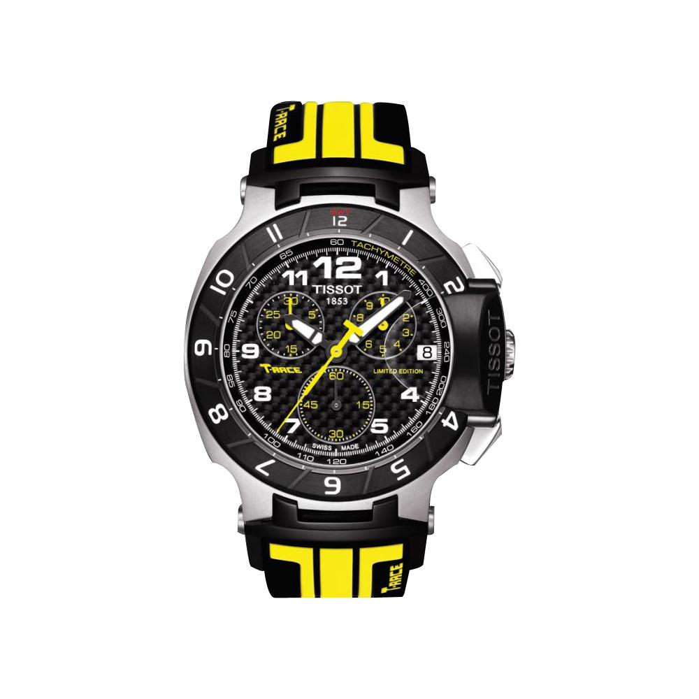 TISSOT T-Race MotoGP 專業限量賽車腕錶-黑x黃/45.3mm