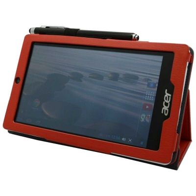 ACER Iconia One 7 背夾旋轉款皮套+螢幕貼 組合
