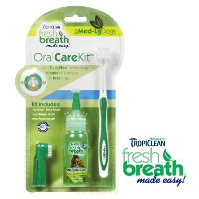 美國Fresh breath《鮮呼吸.中大型犬寵物專用潔牙凝膠+牙刷組》 1 入組