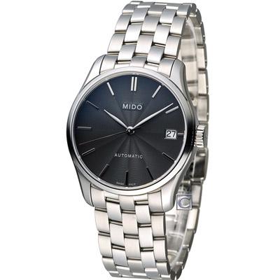 MIDO Belluna ll 永恆優雅80小時動力儲存機械錶腕錶-黑/33mm