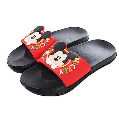 迪士尼米奇休閒拖鞋 紅黑 sk0391 魔法Baby