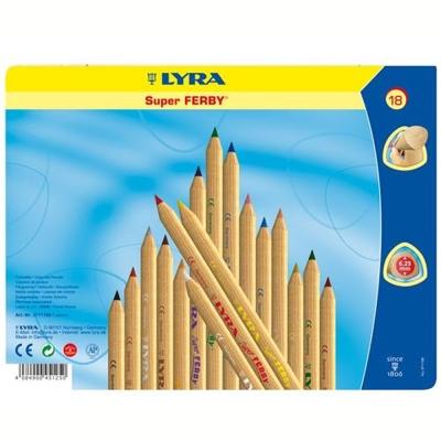 德國LYRA 三角原木色鉛筆(17.5cm)18色