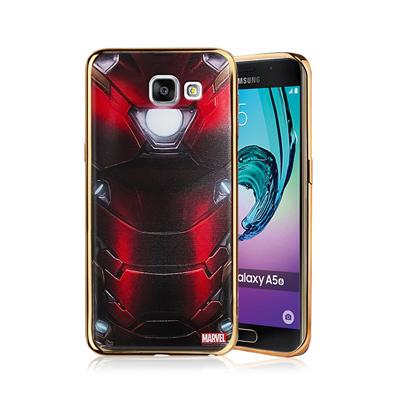 漫威正版 三星Galaxy A5(2016) 美國隊長3 彩繪電鍍手機殼(鋼鐵裝...