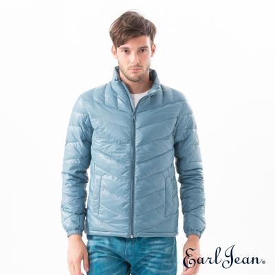 Earl Jean 超輕量立領羽絨外套-藍綠-男