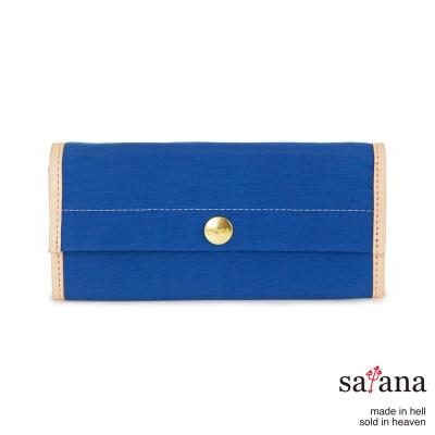 satana - 掀蓋式長夾 - 星空藍
