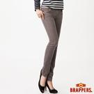 BRAPPERS 女款 新美尻系列-女用彈性條絨九分褲-灰