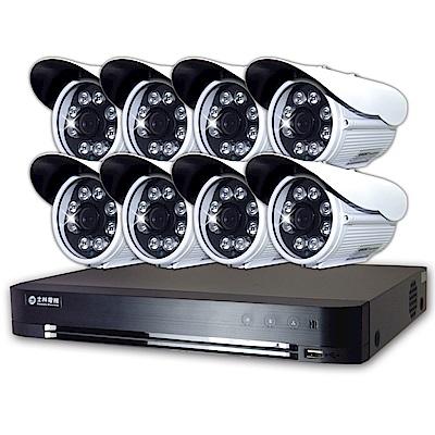 士林電機1080P 16路主機+8支1080P 8列紅外線槍型攝影機