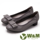 W&M 淑女蝴蝶結鑽飾造型低跟 女鞋-灰(另有黑) product thumbnail 1