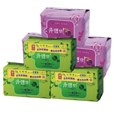 悠安美漢方衛生棉-A組合(日用x3、護墊x3)