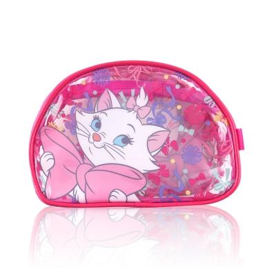 Disney迪士尼經典防水透明瑪莉貓化妝包 萬用包