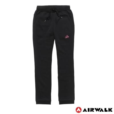 AIRWALK-女-棉休閒針織長褲-黑
