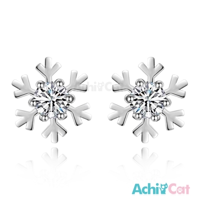 AchiCat 925純銀耳環 唯美雪花