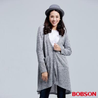 BOBSON 女款黑點花紗長版外衣