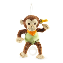 STEIFF德國金耳釦泰迪熊 - Jocco Monkey 猴子 (嬰幼兒音樂鈴)