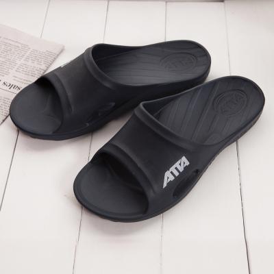 ATTA 運動風簡約休閒拖鞋-黑色