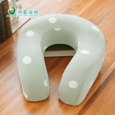 格藍傢飾 水玉涼感舒壓護頸枕(大)-抹茶綠