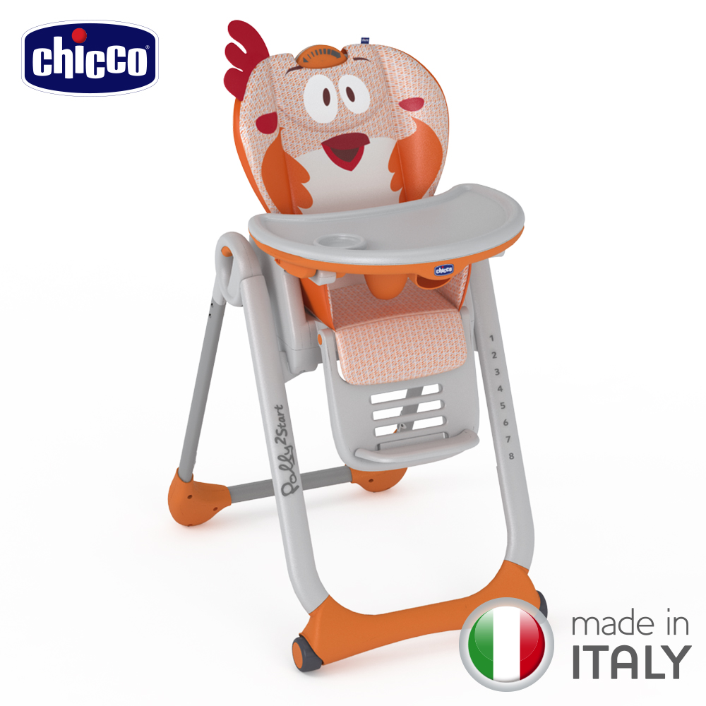 chicco-Polly 2 Start多功能成長高腳餐椅-咕咕公雞
