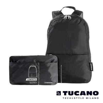 TUCANO COMPATTO 超輕量防水尼龍折疊收納後背包 -4入
