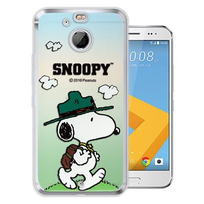 史努比/SNOOPY 正版授權 HTC 10 evo 5.5吋 漸層彩繪手機殼(...