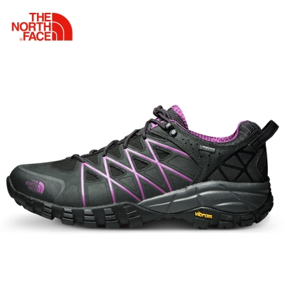 The North Face北面女款紫色抓地耐磨徒步鞋