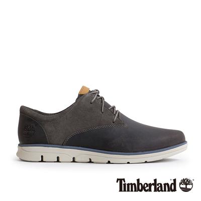 Timberland 男款古錫色素面綁帶休閒淺口鞋
