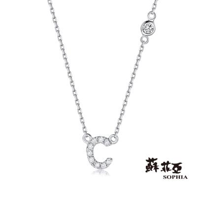 蘇菲亞SOPHIA-鑽鍊-英文字母鍊系列-C字鑽石項鍊-共2色